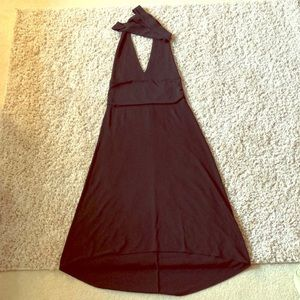 Banana Republic black high/low halter dress, 8